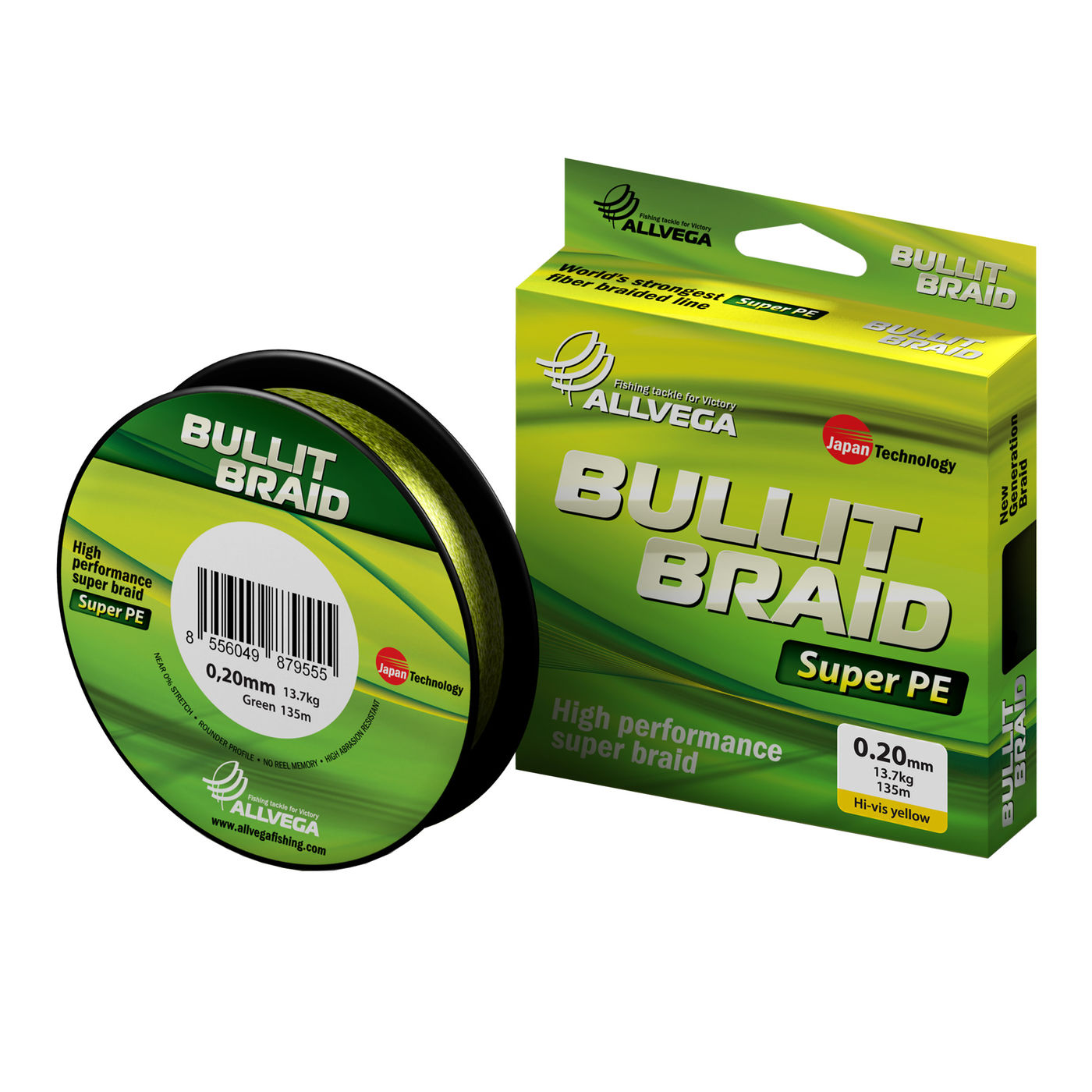 "Шнур плетёный ALLVEGA ""Bullit Braid"" 135м 0,26мм (18,6кг) 8556049879975"