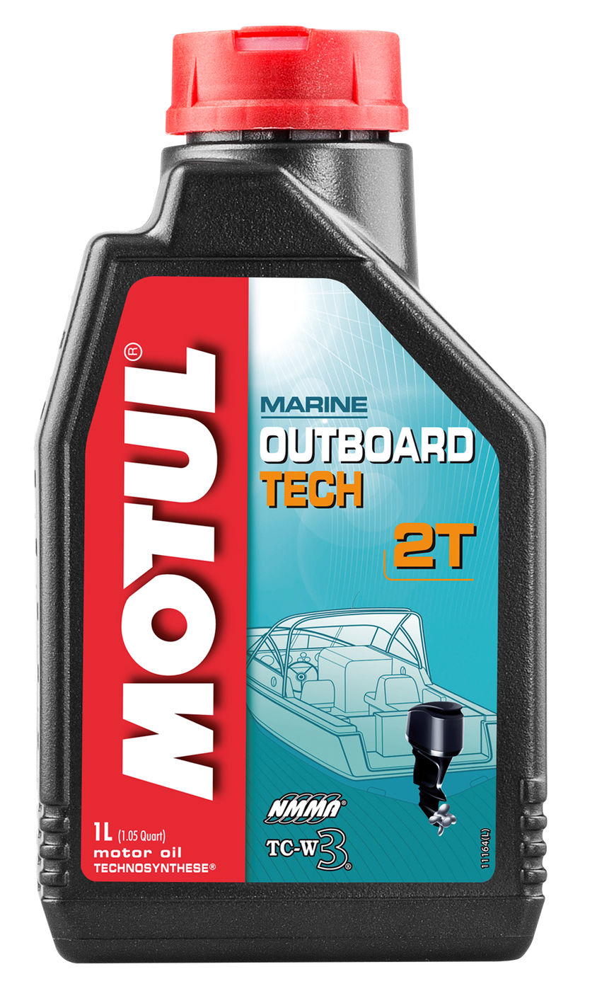Масло моторное Motul Outboard Tech 2T, Technosynthese (1 л) 102789 (106613)