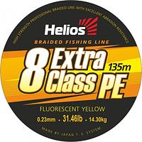 Шнур плетеный Helios EXTRA CLASS 8 PE BRAID Fluorescent Yellow 0,23mm/135 (HS-8PEY-23/135 Y)